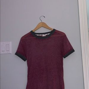 VS Pink basic tee bundle maroon/gray